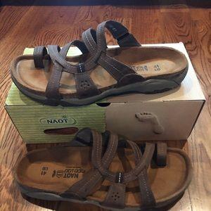 NAOT Drift sandals brown size 10 new